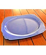 "HOMER LAUGHLIN VTG Pre-Fiesta Riviera Blue Large 13.5"" Batter Tray Platt... - $48.46"