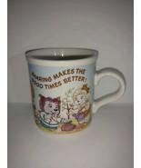 Vintage Get Along Gang coffee mug Sharing Makes the Good Times Better Ja... - $22.76