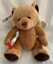"Russ Applause Teddy Bear Brown Plush Soft Toy Cupid Angel Satin Wings Nwt 8"" - $13.85"