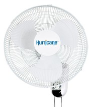Hurricane Classic Oscillating Wall Mount Fan 16 in - 736503 - $35.95