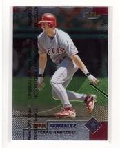 1999 Topps Finest #75 Juan Gonzalez Texas Rangers Collectible Baseball Card - $0.99