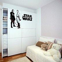 (39'' x 27'') Star Wars Vinyl Wall Decal / Obi Wan Kenobi & Anakin Skywalker wit - $35.92