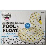 Big Mouth Inc Giant Swan Inflatable Swimming Pool Float Tube White Yellow - $19.79
