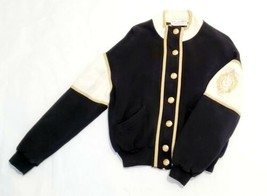 Vtg St. John Sport By Marie Gray Embroidered Colorblock Full Zip Jacket Small  - $109.86