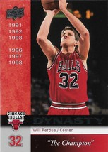 Will Perdue Upper Deck 08-09 #CHI-21 Dynasty Chicago Bulls - $0.50