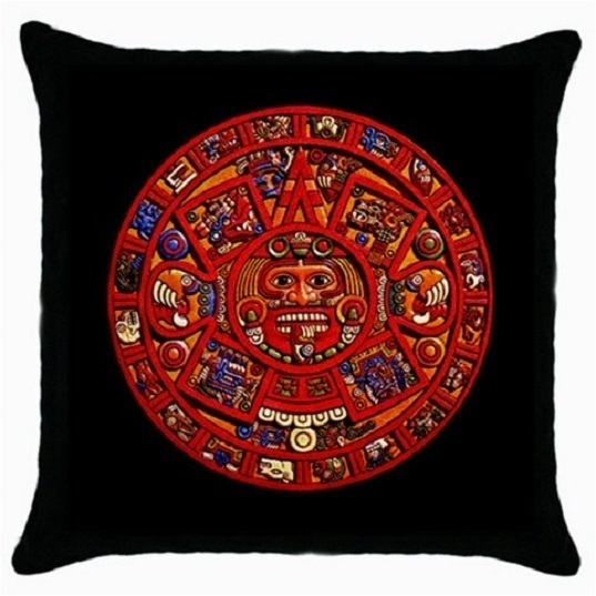 Throw Pillow Case Decorative Cushion Cover Ancient Mayan Calendar Gift 36499816
