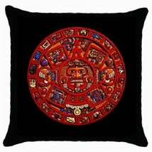 Throw Pillow Case Decorative Cushion Cover Ancient Mayan Calendar Gift 3... - $16.99