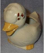 Unmarked Old Vintage Pottery Duck Planter Cute - $5.00