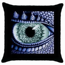 Throw Pillow Case Decorative Cushion Cover Blue Dragon Eye Abstract 3652... - $16.99