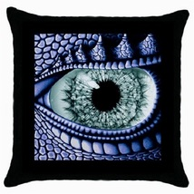 Throw Pillow Case Decorative Cushion Cover Blue Dragon Eye Gift model 36... - $16.99