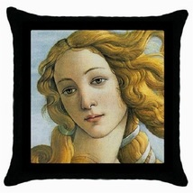 Throw Pillow Case Decorative Cushion Cover Botticelli Birth Of Venus 334... - $16.99