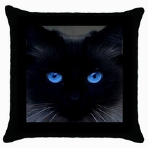 Throw Pillow Case Decorative Cushion Cover Friendly Cat Blue Eyes Gift 1... - $16.99