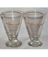 2x Saint Brendan's Shotglass 1 1/2 oz Footed Glass Gold Lettering - $5.99