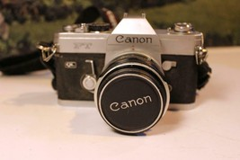 VINTAGE CAMERA - CANNON QL FT W/CANNON 50MM LENS & CASE - EXC- W17 - $42.09