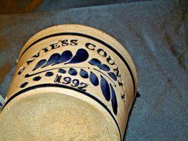 Daviess County Westerwald Stoneware Honey Pot Lid Stir Stick & Bowl with handle image 8