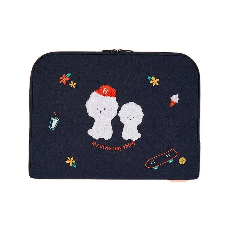 AntenaShop Boucle Bichon iPad Tablet Sleeve Pouch Bag Cover Case Korean Design