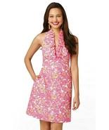 Lilly Pulitzer Lavin Resort White Chum Bucket Ruffle Halter Dress 8 - $116.99