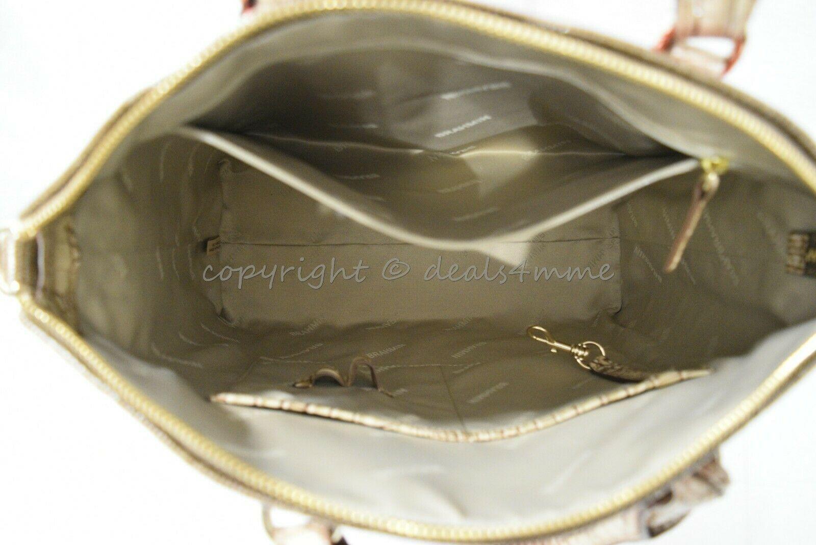 NWT Brahmin Large Duxbury Satchel/Shoulder Bag in Candy Apple Carlisle image 11