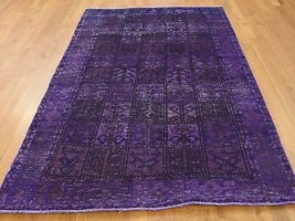 5'x8' HandKnotted Overdyed Bakhtiari Pure Wool Worn Oriental Rug G38276 - $495.00