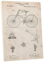"Pingo World 0301Q40WXFS ""Urban Bicycle Patent"" Gallery Wrapped Canvas Print, 30"" - $58.36"