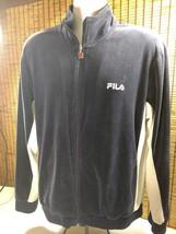 Vintage 90s Fila  BLUE Velour Full Zip Up Hip Hop Track Jacket Size Medi... - $18.95