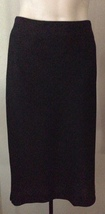 $925 Black Label Donna Karan Collection Doubleface Dunlined Wool Spandex Skirt 14 - $214.77