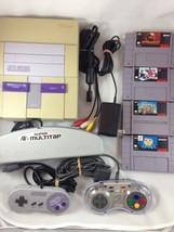 SNES Console Super Nintendo Entertainment System Controllers Super Mario... - $89.09