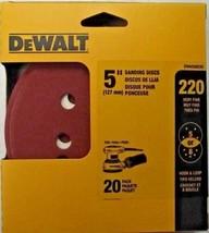 """Dewalt DWAS58220 5"""" 220 Grit Sanding Discs 5 or 8 Hole H&L Backing 20 Pack - $3.22"""