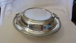 Vintage Oneida Silverplate 3 Piece Serving Bowl with Handles and Insert ... - $74.25