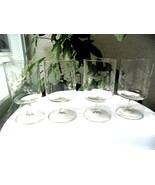 "Set of 4 Princess House Heritage Pattern Wine Glasses 5 5/8"" Tall  - £15.65 GBP"