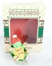 "Vintage Enesco ""Turtle Greetings"" Christmas Ornament Ice Skates With Box - $9.89"