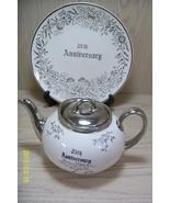 Platinum Rose Tea Pot & Serving Plate 22KT Pearl China - $19.95