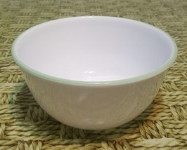 Corelle shadow Iris 28oz white green rim Super Soup/Cereal Bowl, Winter ... - $16.80