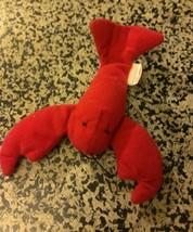 LOBSTAH PLUSH Vintage TY McDonald's Teenie Beanie Baby Pinchers the Lobster - $2.48