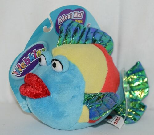 GANZ Brand Webkins Collection HM438 Rainbow Colored Plush Pucker Fish