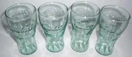 (4)  MINIATURE COCA-COLA COKE JUICE CLEAR GLASSES - $34.99
