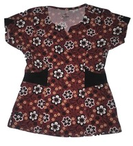 Jockey Women's Stretch Scrub Top NWT Fall Berry in Extra Small & Small - $23.99
