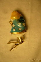 Vaillancourt Folk Art Hand Blown Glass Clip Ornament Angel image 2