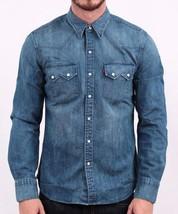 NEW LEVI'S MEN'S CLASSIC LONG SLEEVE DENIM BUTTON UP CASUAL DRESS SHIRT 81005