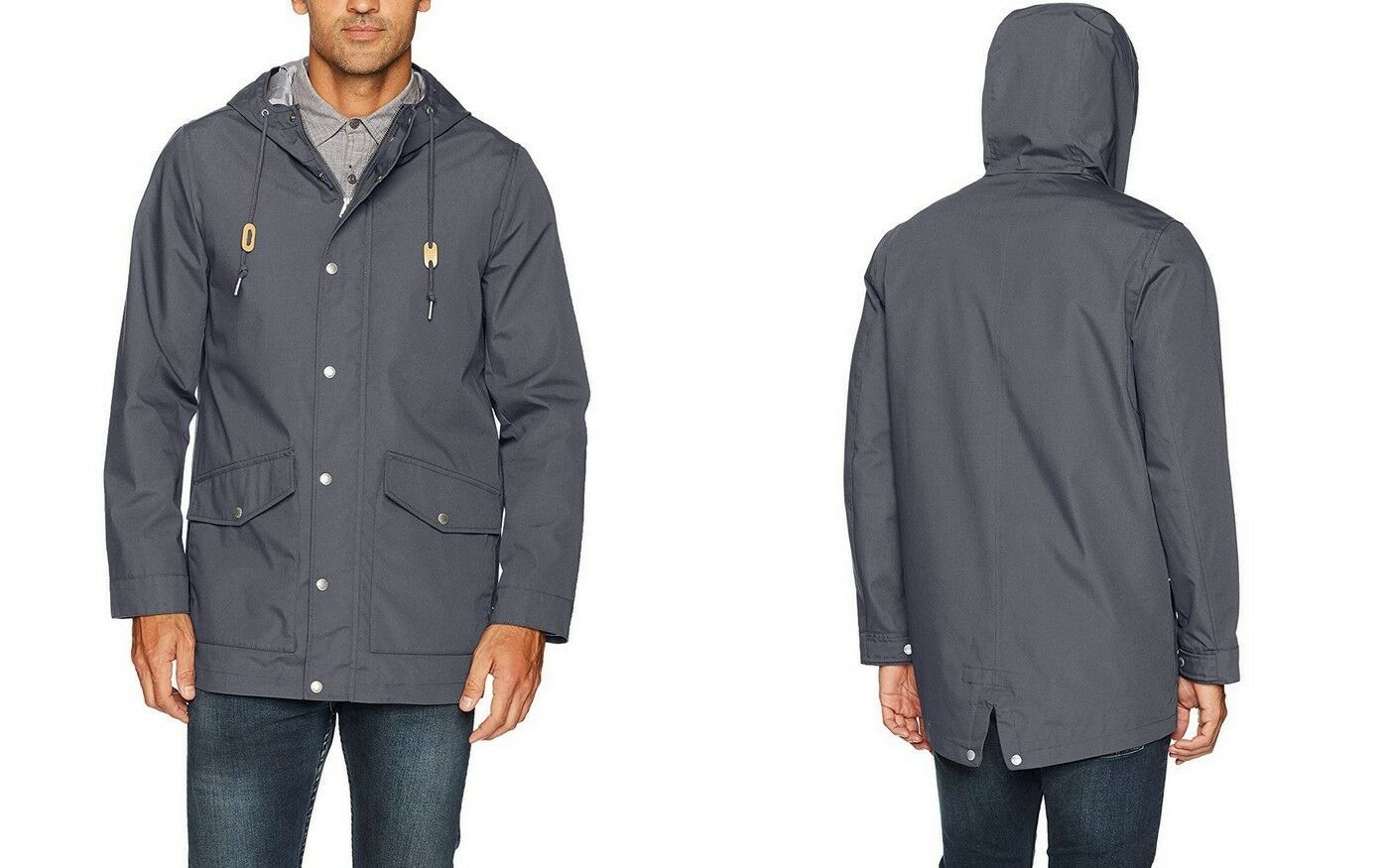 Primary image for Levi's Performance Men's Water Resistant Hooded Fishtail Parka Jacket Charcoal M