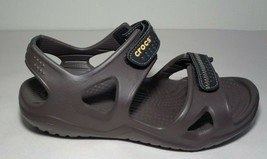 Crocs Size 7 SWIFTWATER RIVER Brown Black Sport Sandals New Women's Shoes - $46.93