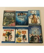 DVD Lot Of 6 Kids Movies Frozen Despicable Me 1 and 2 TMNT Ice Age Dolph... - $11.99
