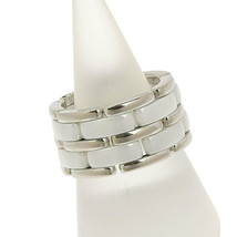 Auth Chanel Ultra-ring Large ring K18WG white ceramic 19 - $2,339.27