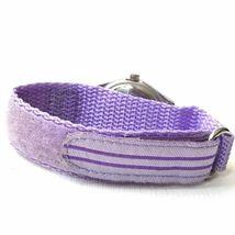 Vintage Swerve Women's Silver Purple Nylon Strap Watch Fresh Battery EXCELLENT! image 4