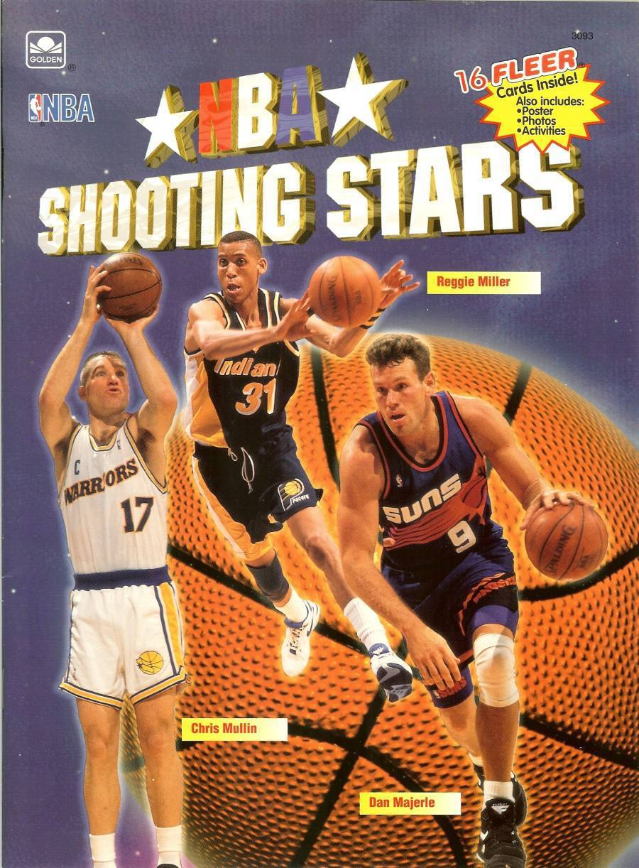 1993 nba shooting stars book 16 fleer basketball cards golden books