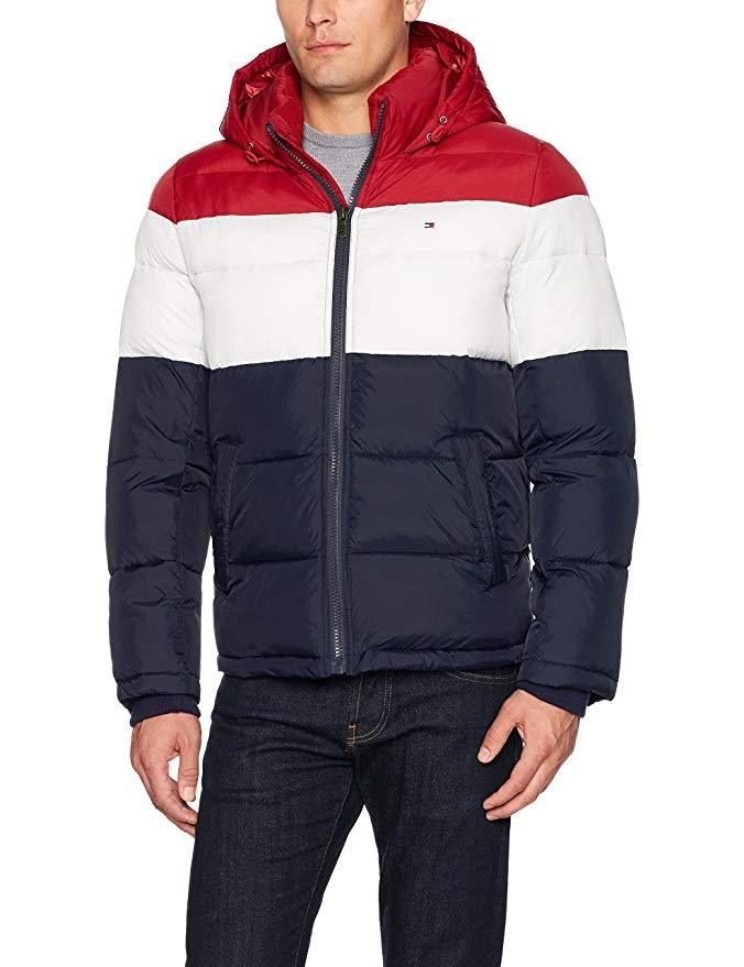 Tommy Hilfiger mens Performance Fleece Lined Hooded Popover Jacket Rain Jacket