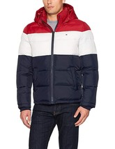 Tommy Hilfiger Men's Insulated  Quilted Classic Puffer Jacket Hooded Mid... - $139.99