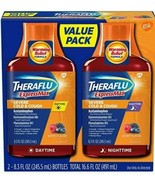 Theraflu ExpressMax Daytime/Nighttime Severe Cold & Cough Relief Syrups ... - $9.49