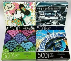 ( Lot of 4 ) DISNEY 500 Piece/Box Jigsaw Puzzles Brand New SEALED Boxes - $21.77