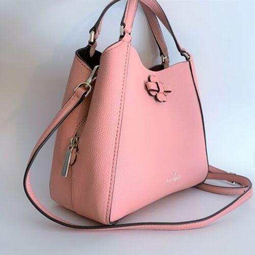 Kate Spade Talia Small Triple Compartment Leather Crossbody ~ Peachy Rose Bag image 10